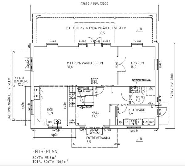 Villa Rosendal Special Planlösning plan 1