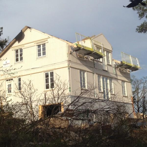 Villa Rosendal 3 dagar efter husleverans.