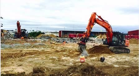 Arbetena med utbyggnaden pågår för fullt i Vårgårda.