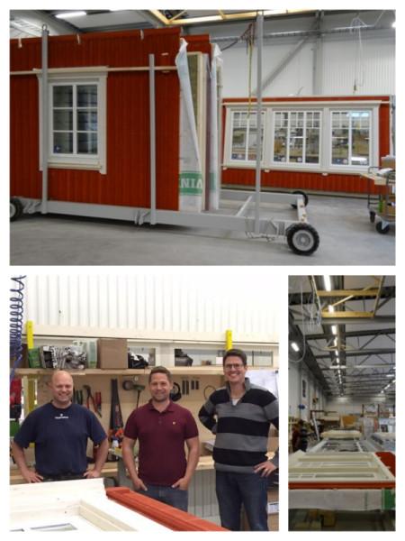 Bilden är lånad från huskarlsgardens.se kunden gjorde ett besök i fabriken och fick se sitt hus i produktion.