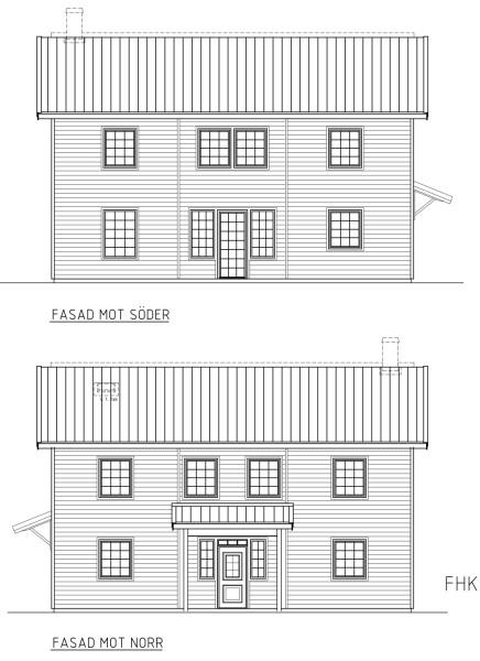 Villa Annehill Special Fasadlösning