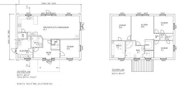 Villa Annehill Special Planlösning
