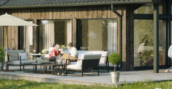Villa Sandvik stora fönster